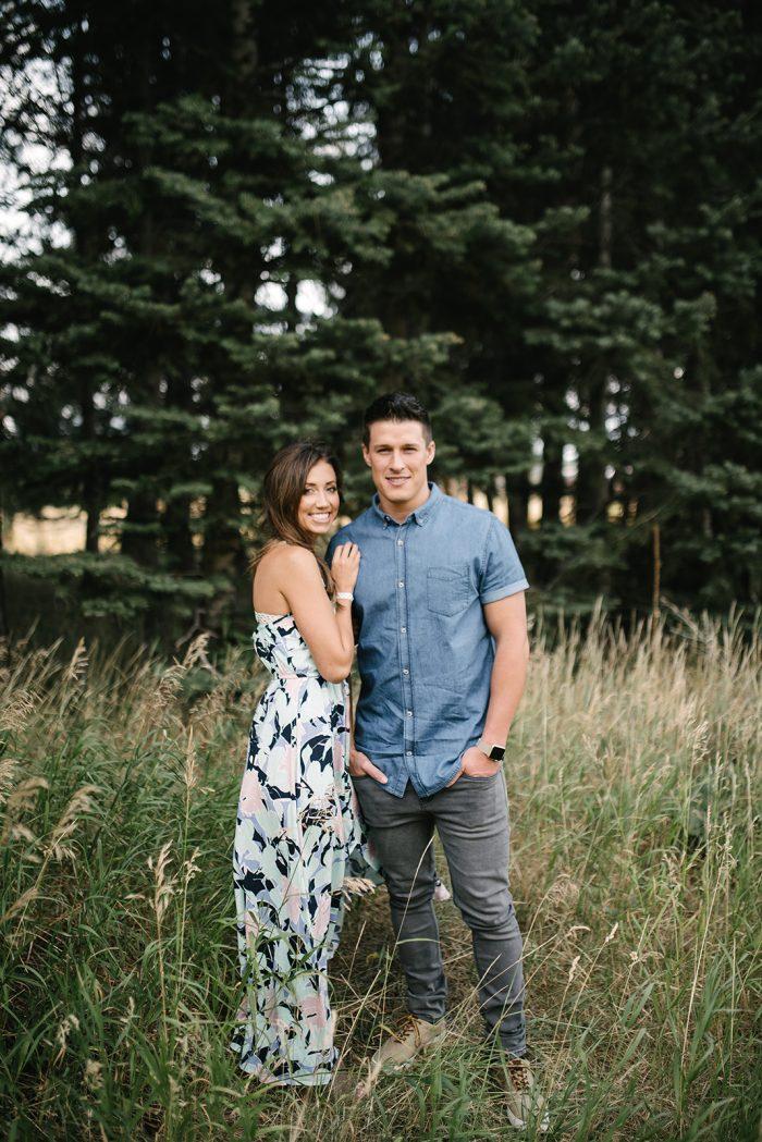 Engaged Couple During Photoshoot