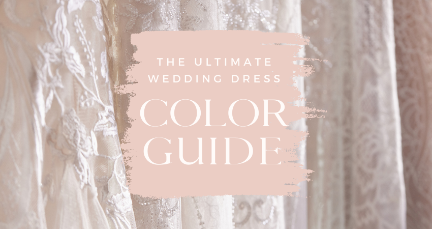 Wedding Dress Shades of White and Other Colors for Wedding Dress Color Guide