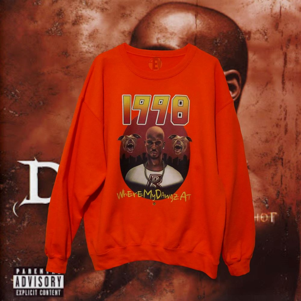 Dmx Orange 1998 4ev Sweatshirt Vintage Vintage Tee Unisex Cotton Tshir