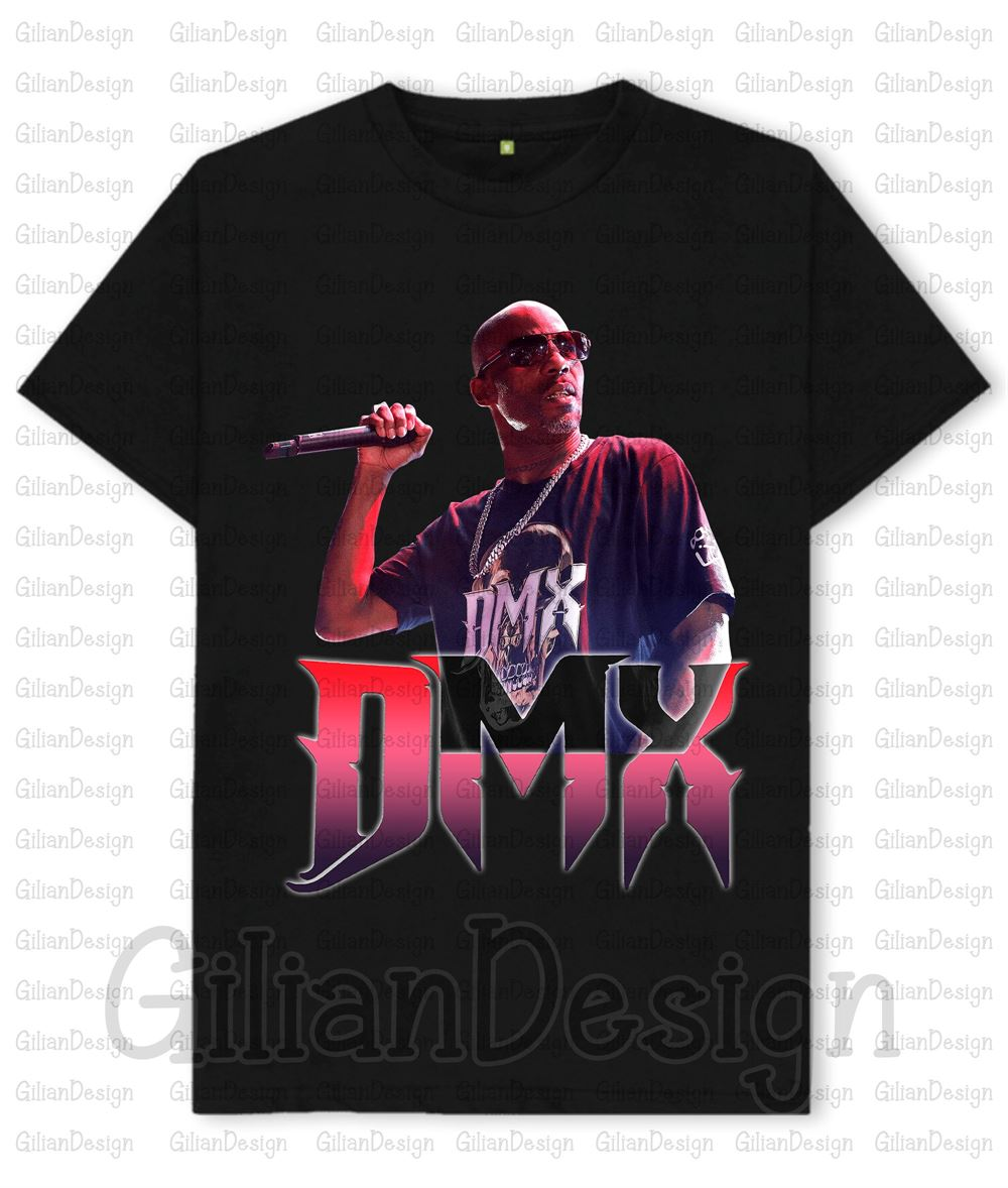 Dmx T-shirt Dmx 20th Anniversary T-shirt Its Dark And Hell Is Hot Tshi