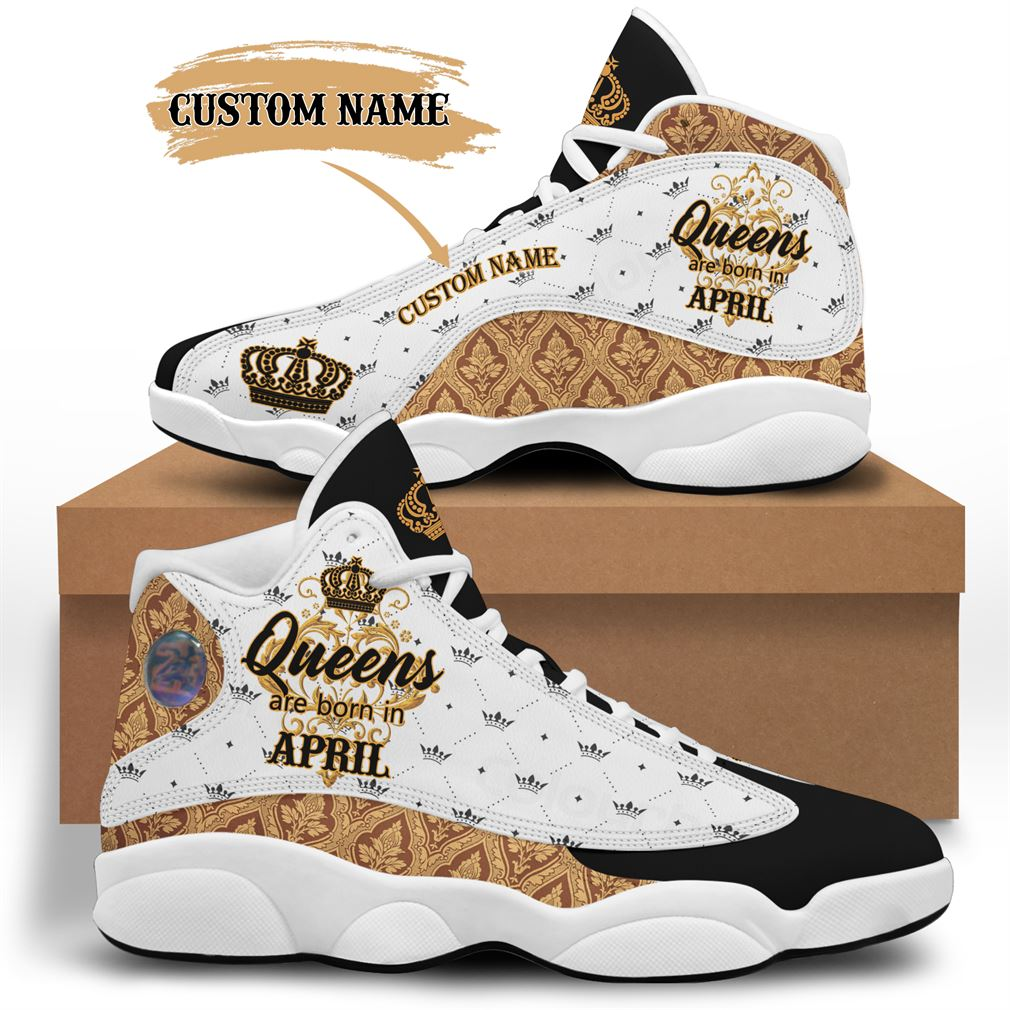 April Birthday Air Jordan 13 Shoes Personalized Sneakers Sport V12