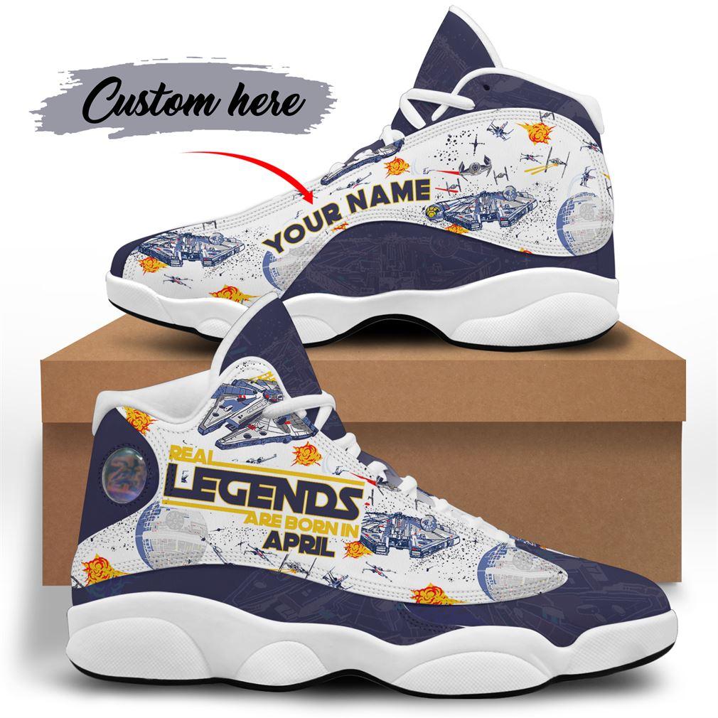 April Birthday Air Jordan 13 Shoes Personalized Sneakers Sport V18