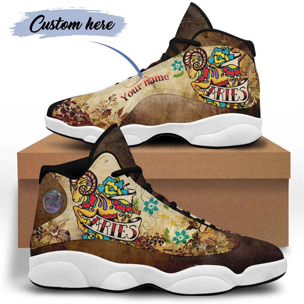 April Birthday Air Jordan 13 Shoes Personalized Sneakers Sport V36