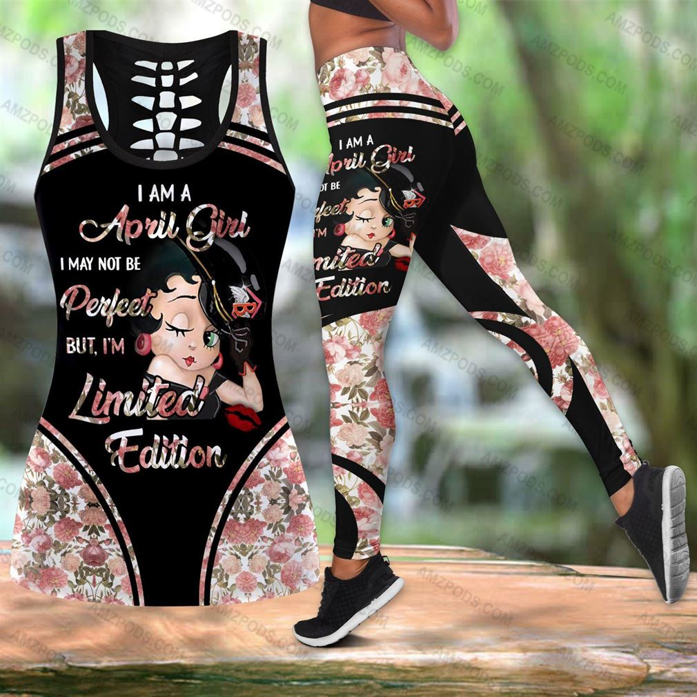 April Birthday Girl Combo Outfit Hollow Tanktop Legging Set V42