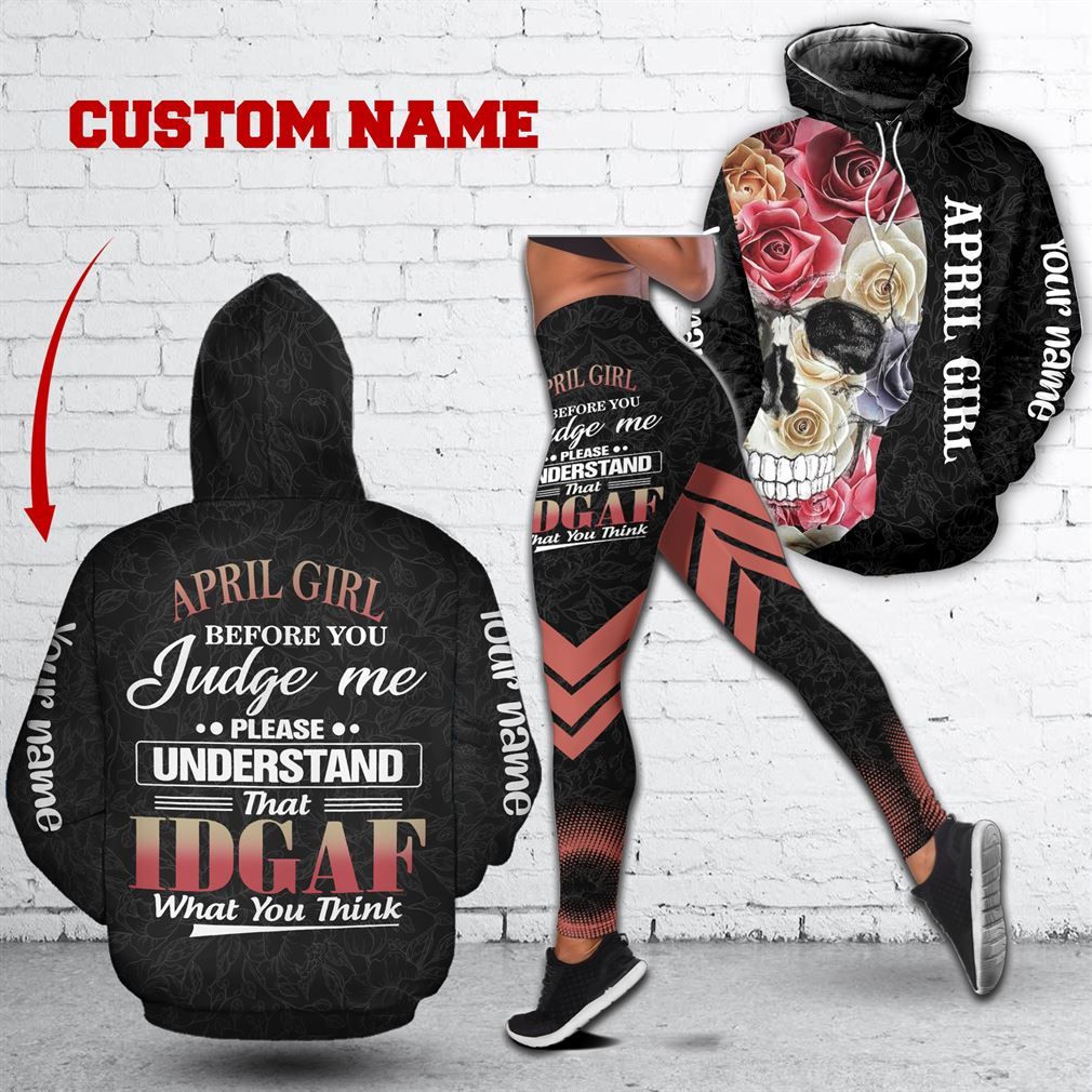 Personalized Name April Girl Combo 3d Clothes Hoodie Legging Set V06