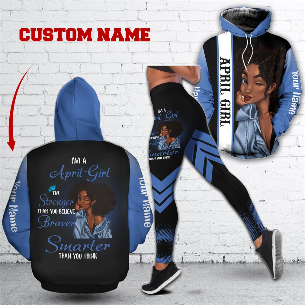 Personalized Name April Girl Combo 3d Clothes Hoodie Legging Set V07