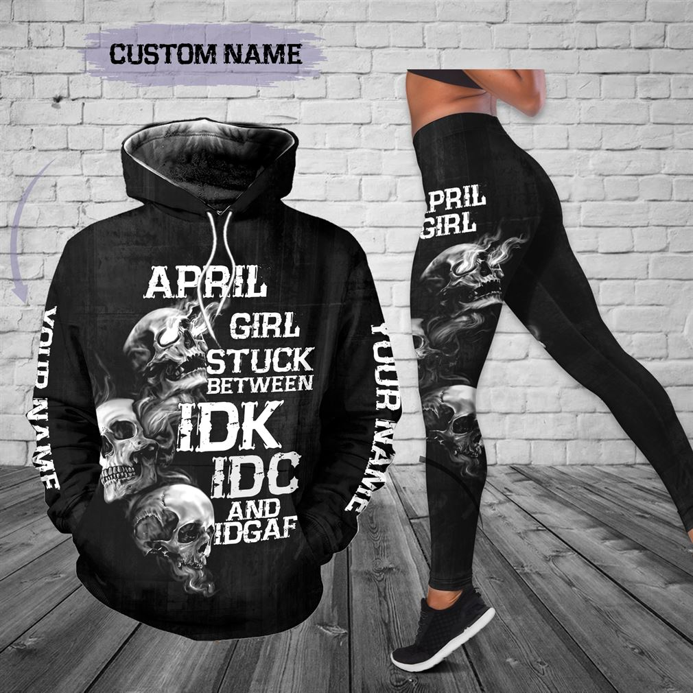 Personalized Name April Girl Combo 3d Clothes Hoodie Legging Set V10