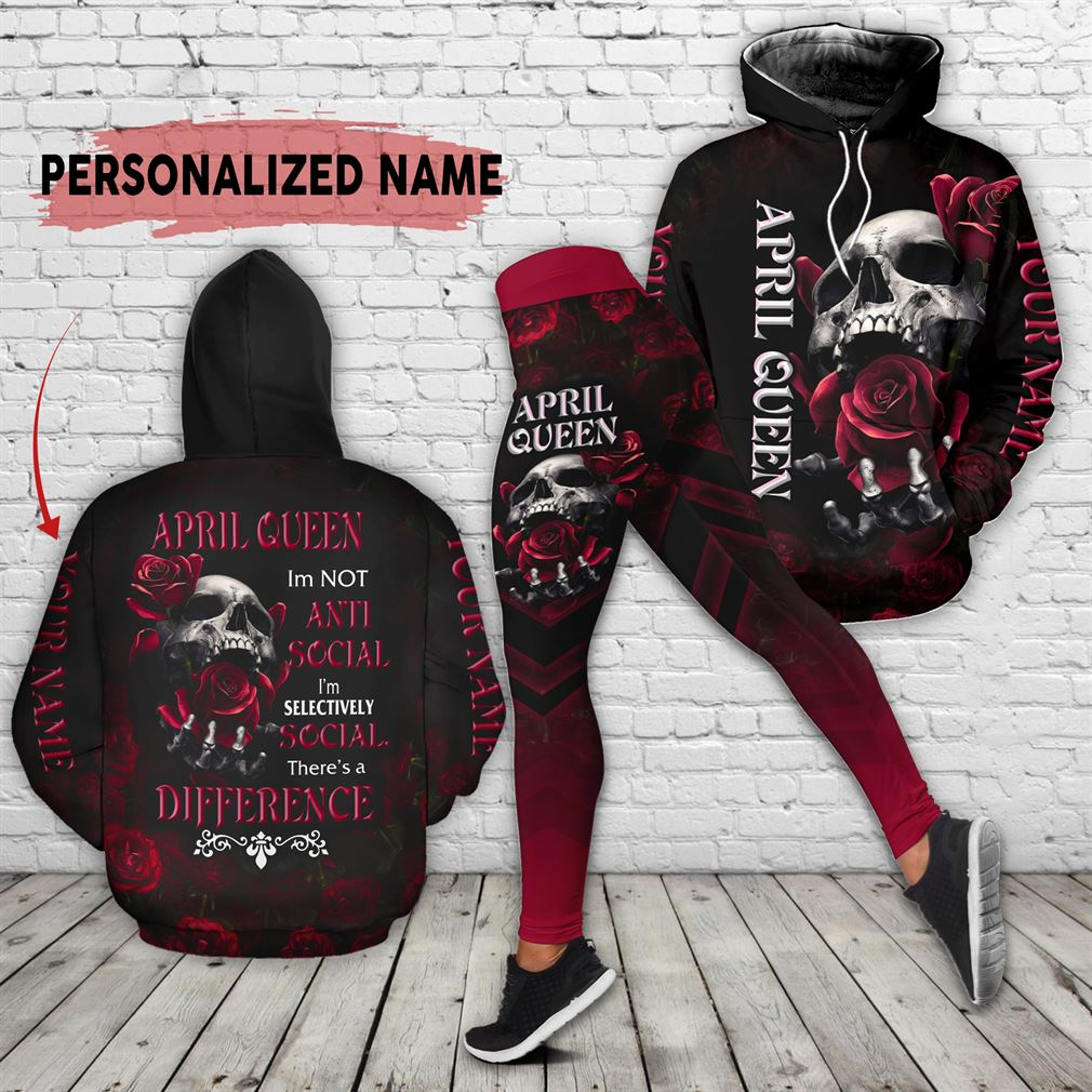 Personalized Name April Girl Combo 3d Clothes Hoodie Legging Set V17
