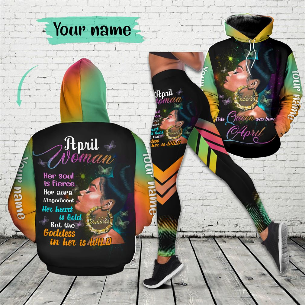 Personalized Name April Girl Combo 3d Clothes Hoodie Legging Set V19