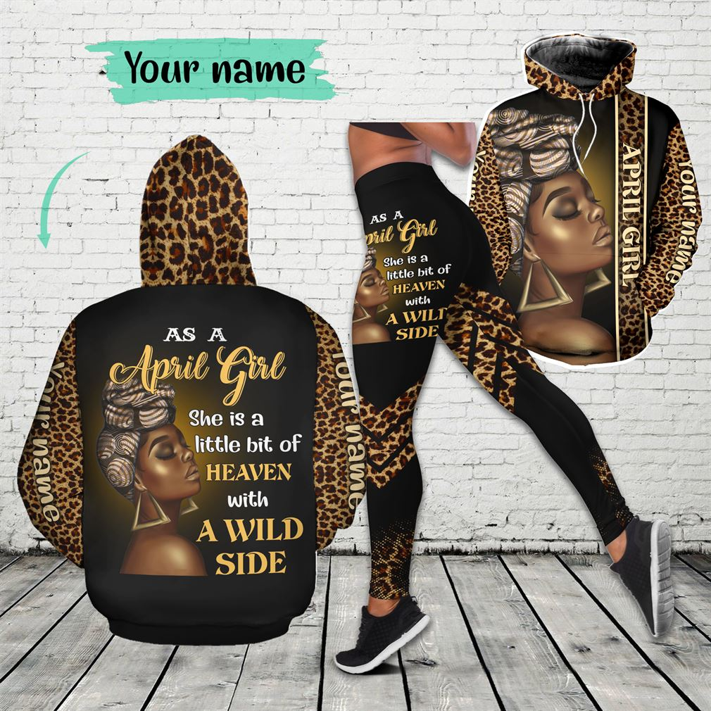 Personalized Name April Girl Combo 3d Clothes Hoodie Legging Set V23