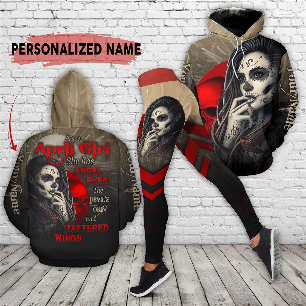 Personalized Name April Girl Combo 3d Clothes Hoodie Legging Set V24