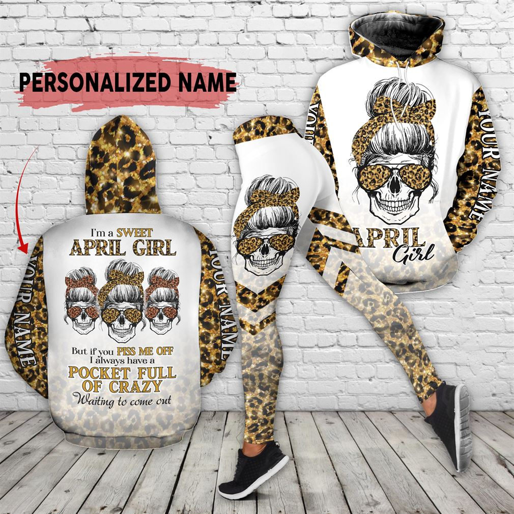 Personalized Name April Girl Combo 3d Clothes Hoodie Legging Set V29