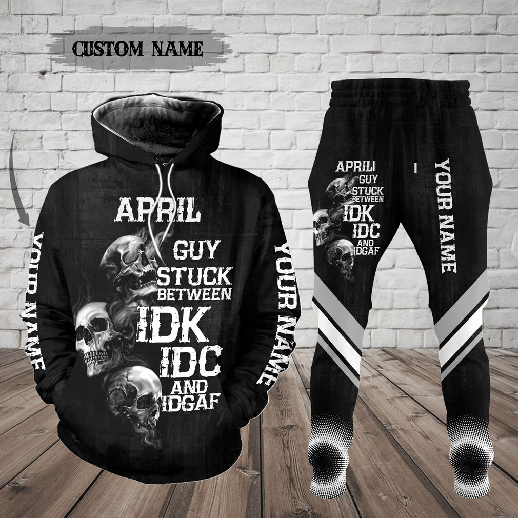Personalized Name April Guy Combo 3d Clothes Hoodie Joggers Set V02