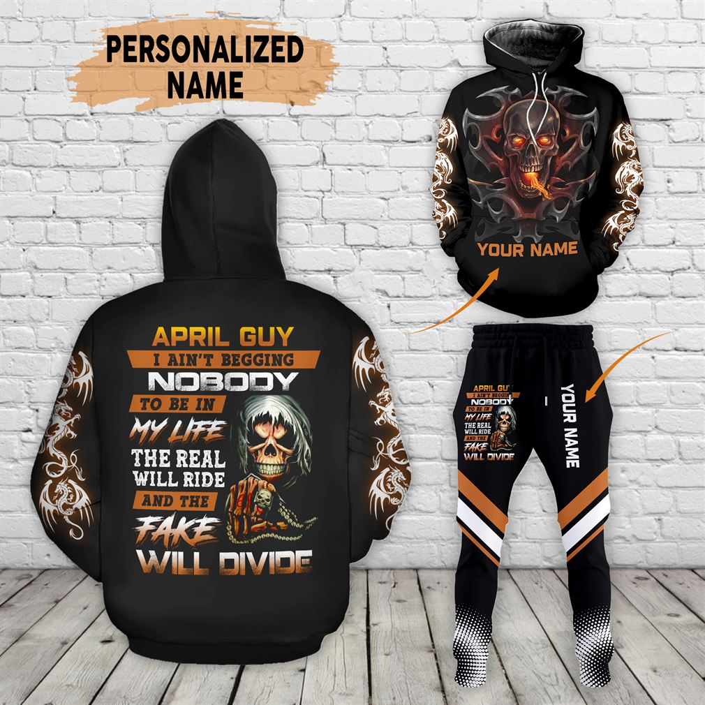 Personalized Name April Guy Combo 3d Clothes Hoodie Joggers Set V05