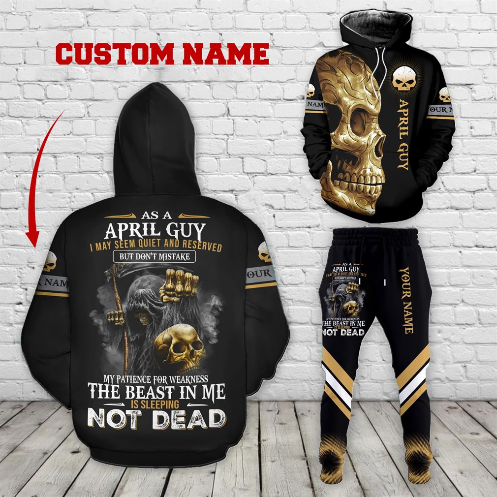 Personalized Name April Guy Combo 3d Clothes Hoodie Joggers Set V08