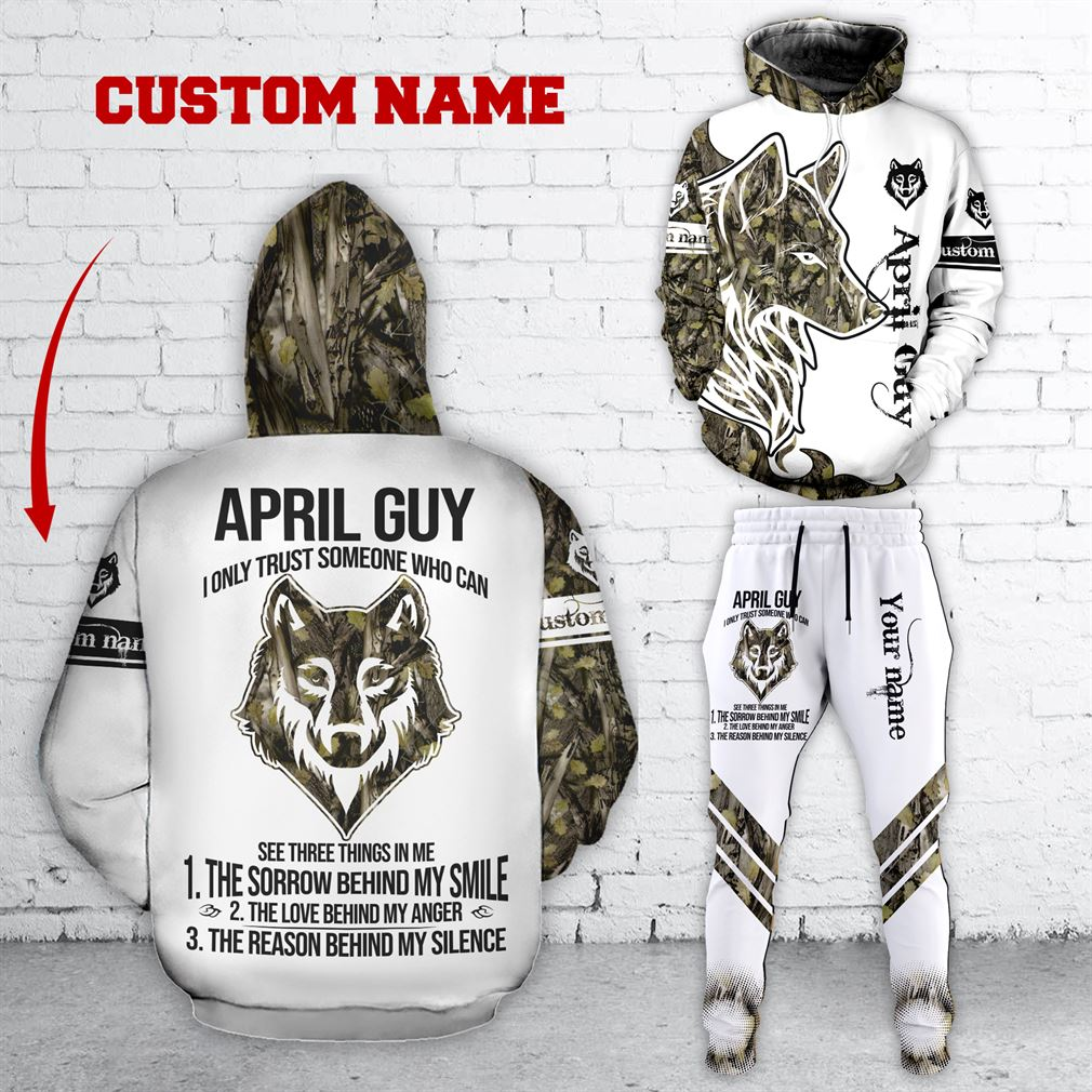 Personalized Name April Guy Combo 3d Clothes Hoodie Joggers Set V12