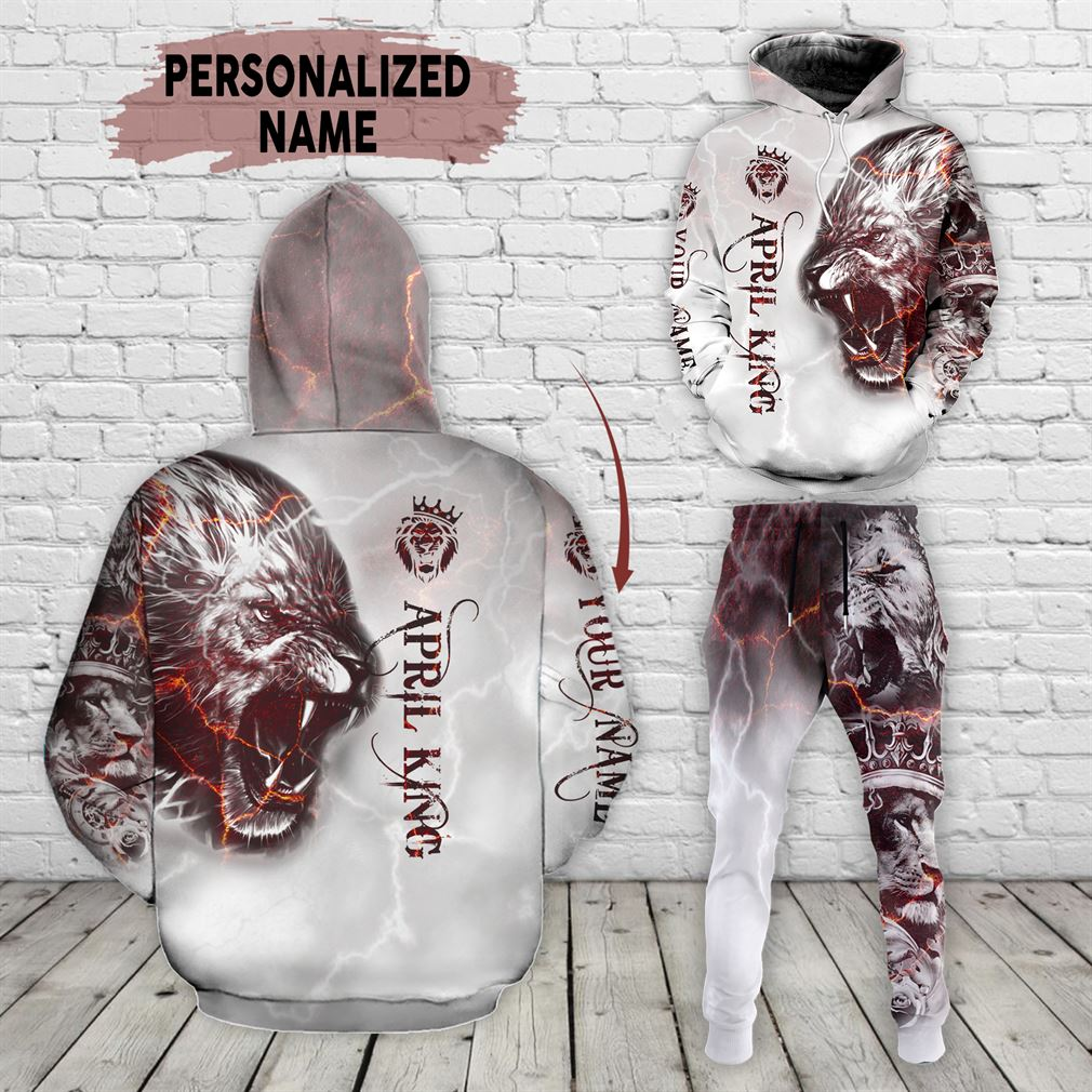 Personalized Name April Guy Combo 3d Clothes Hoodie Joggers Set V14