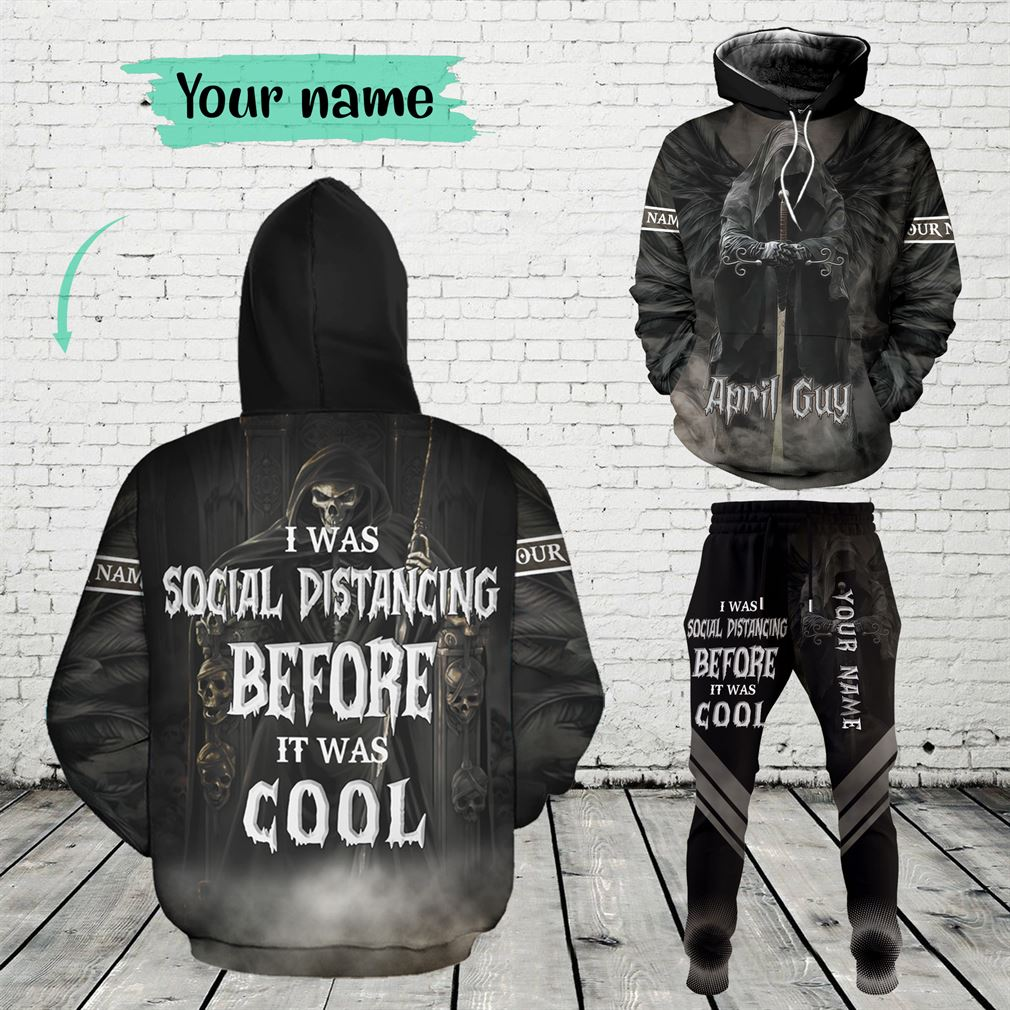 Personalized Name April Guy Combo 3d Clothes Hoodie Joggers Set V16