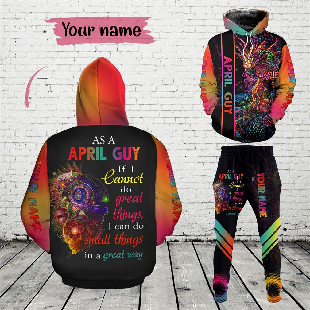 Personalized Name April Guy Combo 3d Clothes Hoodie Joggers Set V25