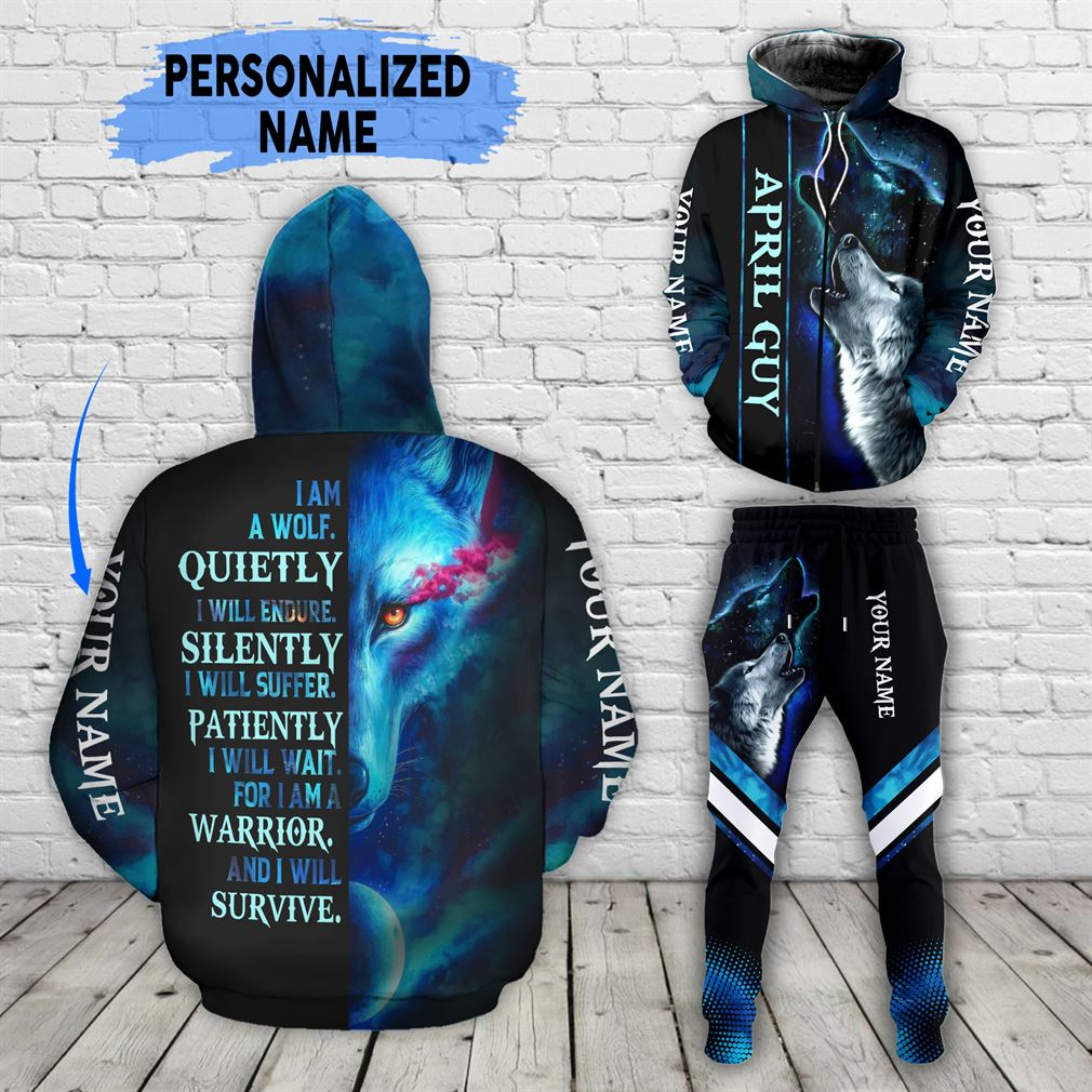 Personalized Name April Guy Combo 3d Clothes Hoodie Joggers Set V28