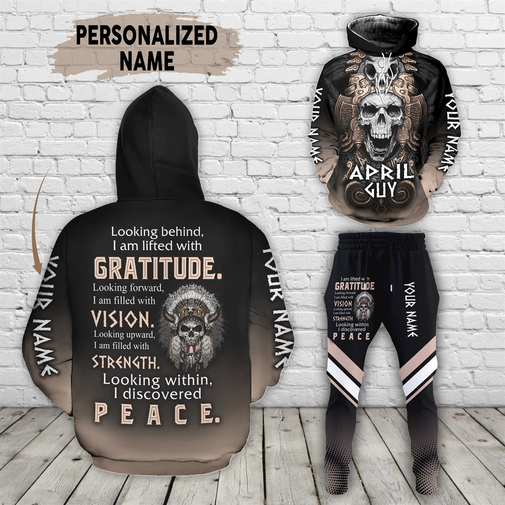 Personalized Name April Guy Combo 3d Clothes Hoodie Joggers Set V30