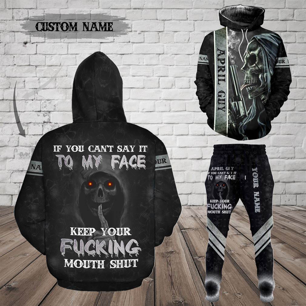 Personalized Name April Guy Combo 3d Clothes Hoodie Joggers Set V31