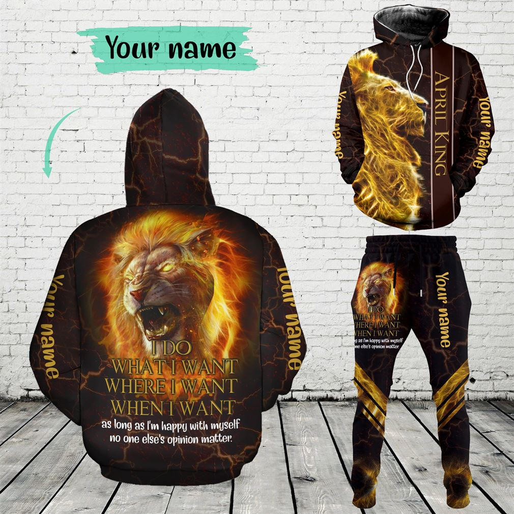 Personalized Name April Guy Combo 3d Clothes Hoodie Joggers Set V33