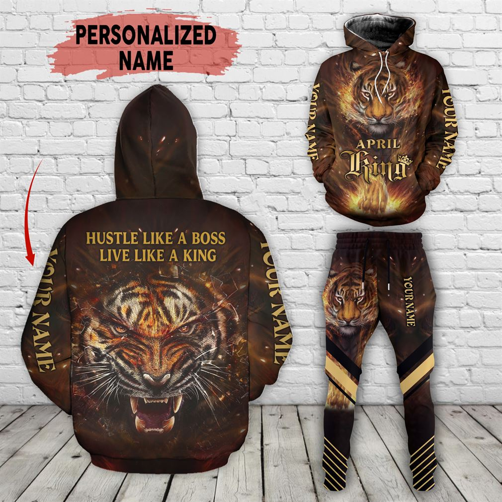 Personalized Name April Guy Combo 3d Clothes Hoodie Joggers Set V34