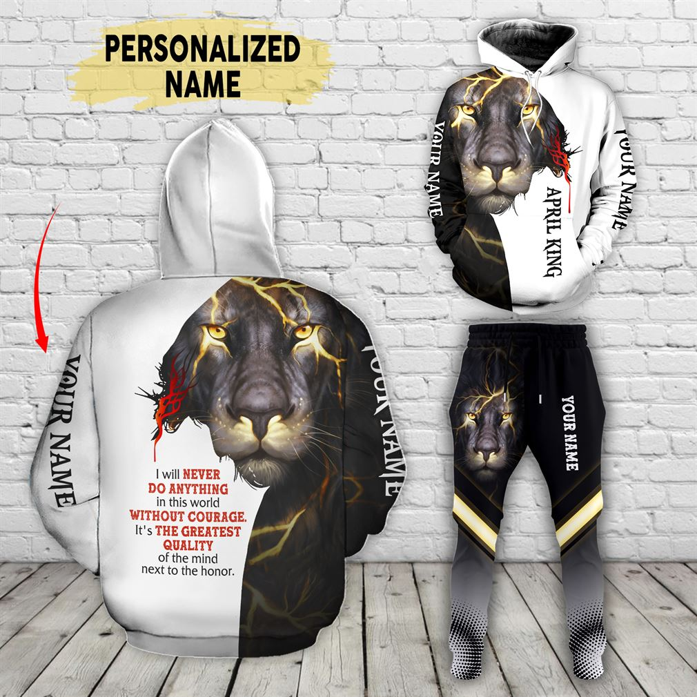 Personalized Name April Guy Combo 3d Clothes Hoodie Joggers Set V36
