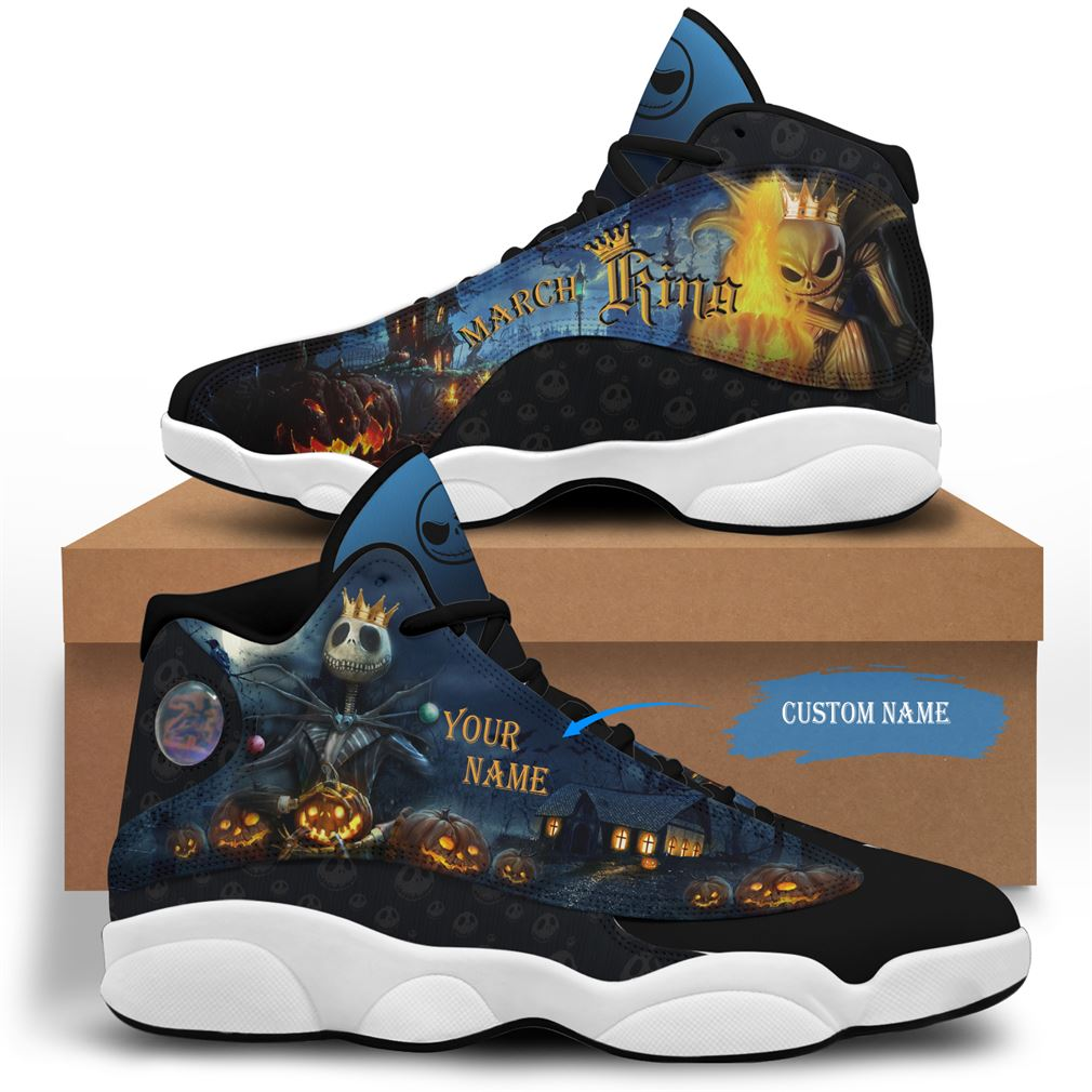March Birthday Air Jordan 13 Shoes Personalized Sneakers Sport V02 Full Size