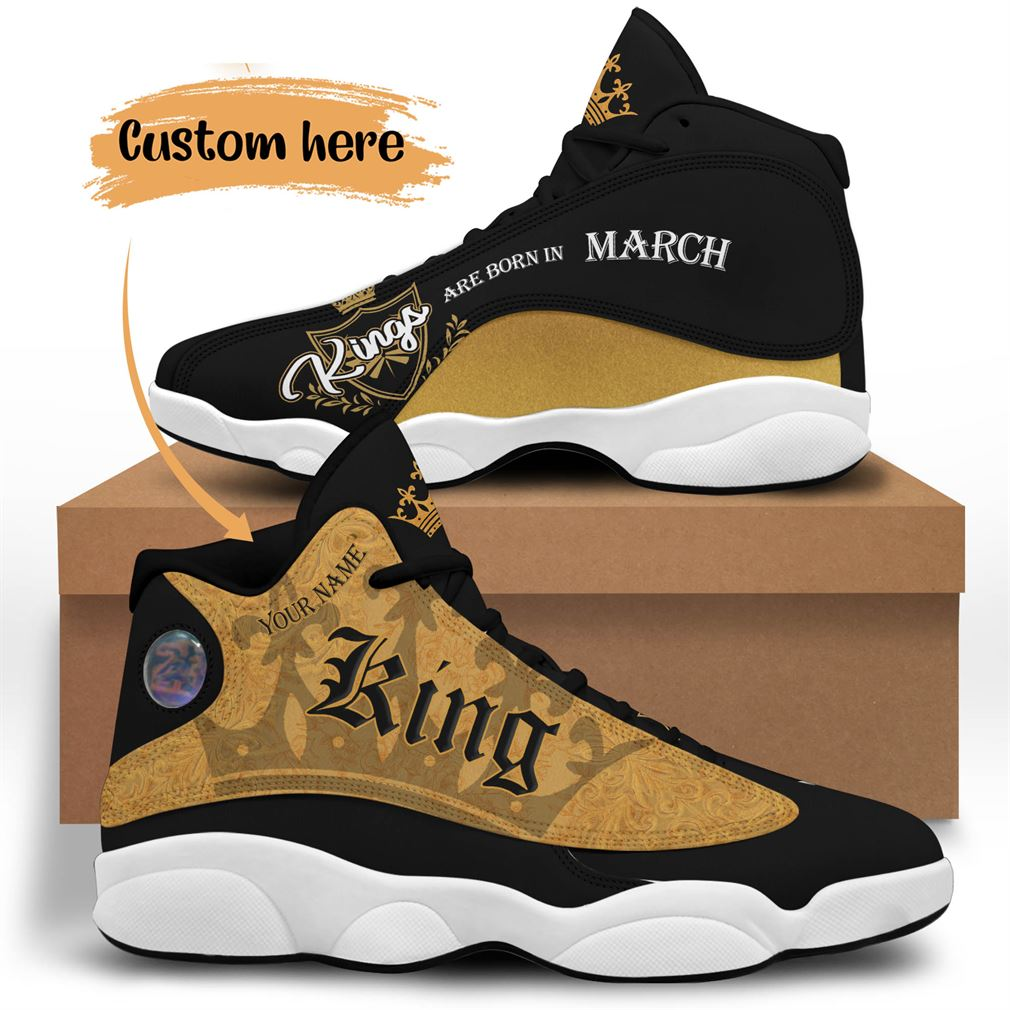 March Birthday Air Jordan 13 Shoes Personalized Sneakers Sport V06 Full Size
