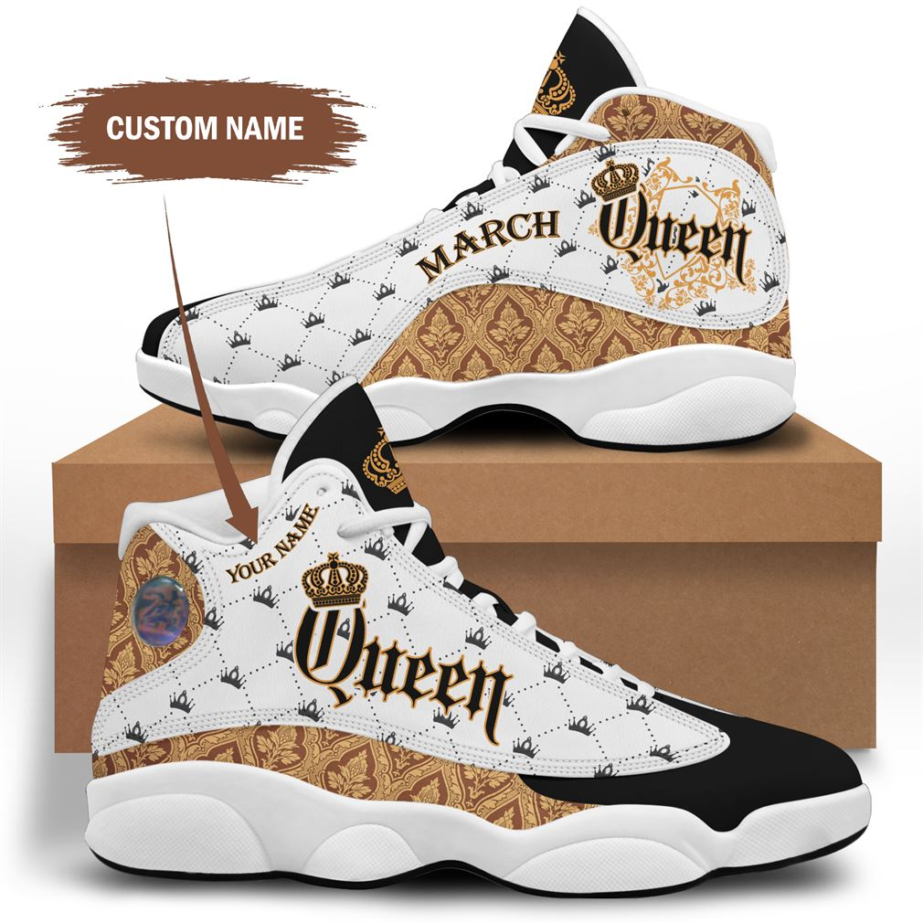 March Birthday Air Jordan 13 Shoes Personalized Sneakers Sport V11 Plus Size