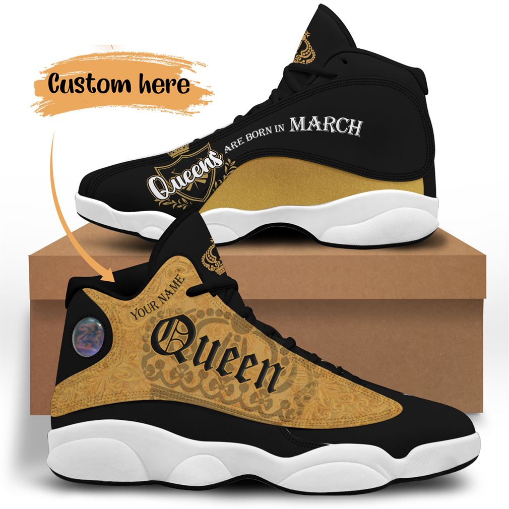 March Birthday Air Jordan 13 Shoes Personalized Sneakers Sport V14