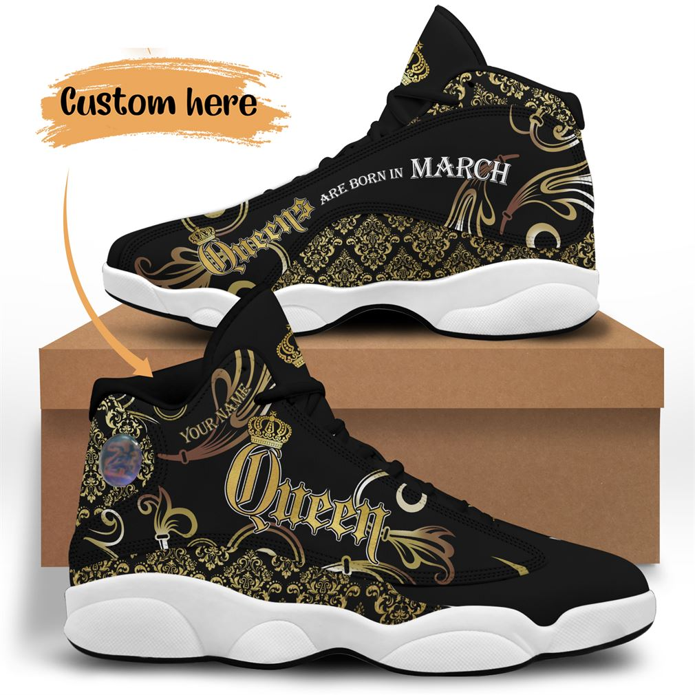 March Birthday Air Jordan 13 Shoes Personalized Sneakers Sport V15