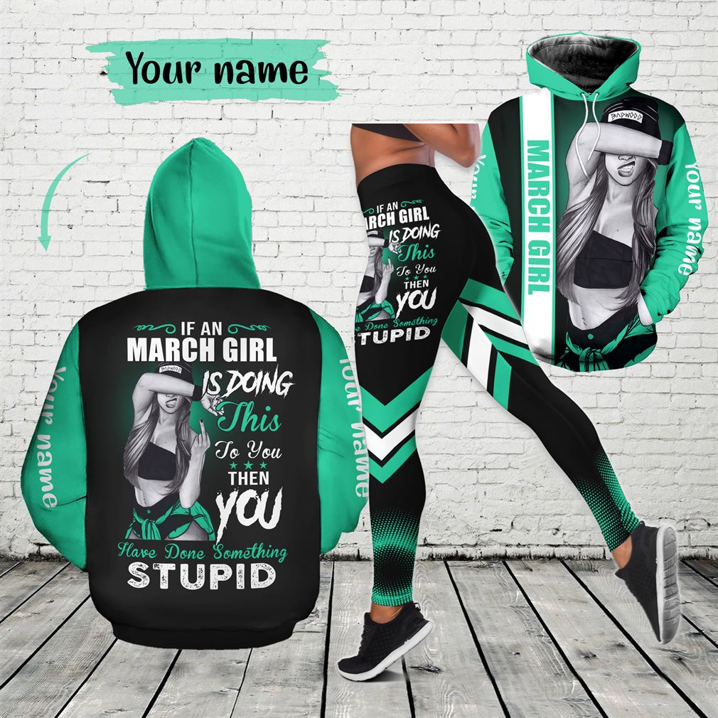 March Birthday Girl Combo Outfit Hollow Tanktop Legging Set V63