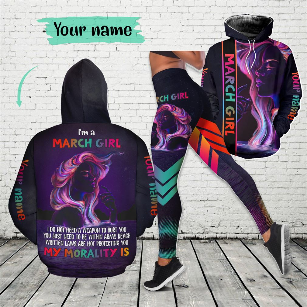 March Girl Combo 3d Clothes Hoodie Legging Set V01