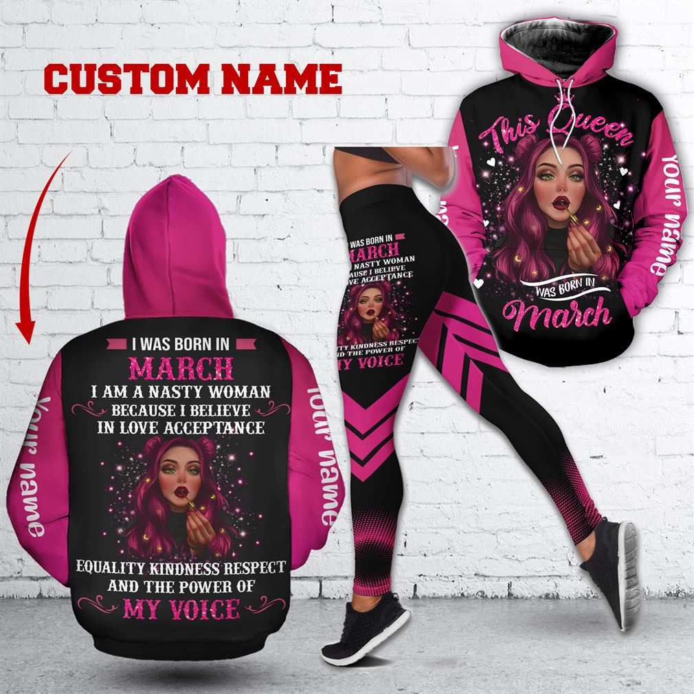 March Girl Combo 3d Clothes Hoodie Legging Set V09