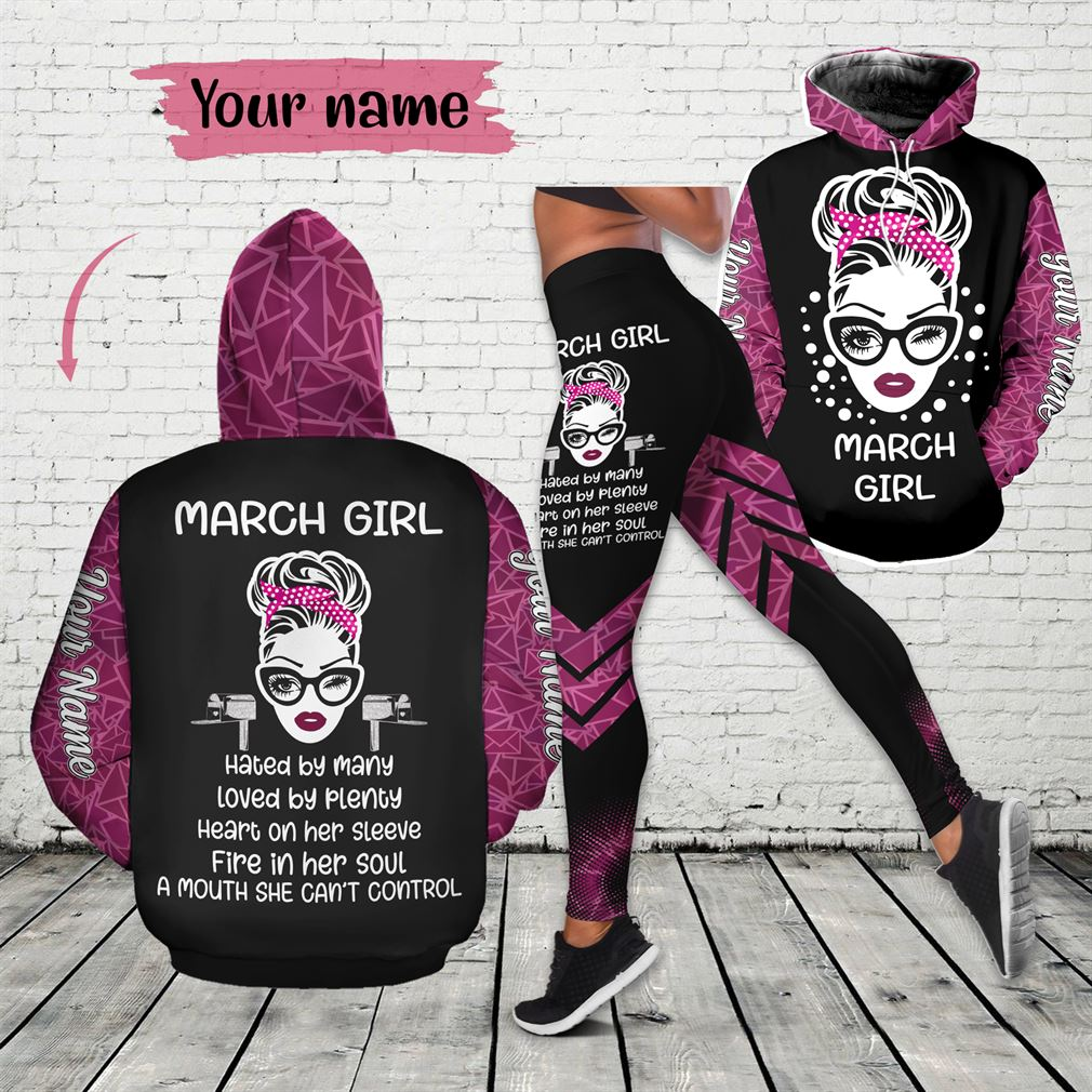 March Girl Combo 3d Clothes Hoodie Legging Set V12