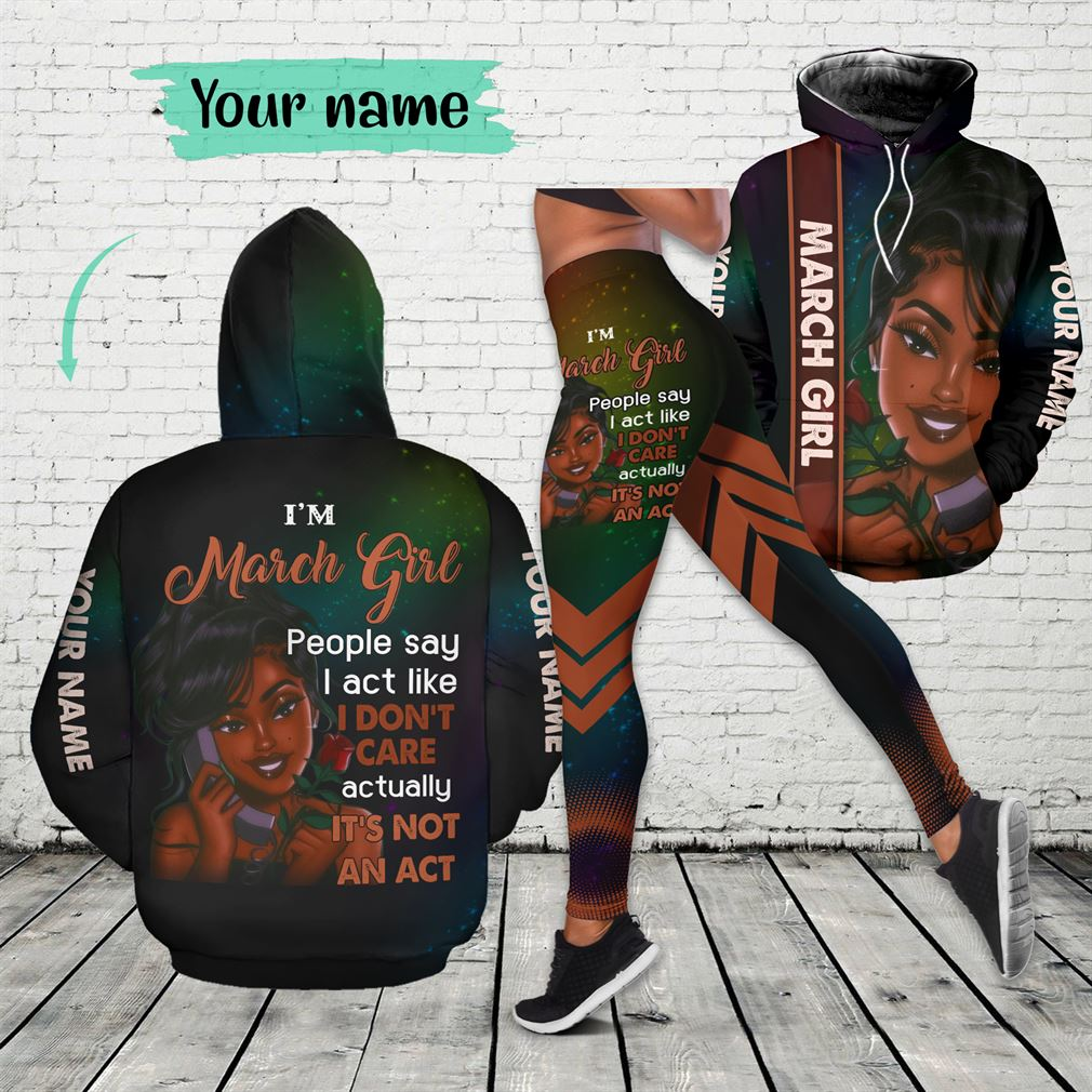 March Girl Combo 3d Clothes Hoodie Legging Set V17
