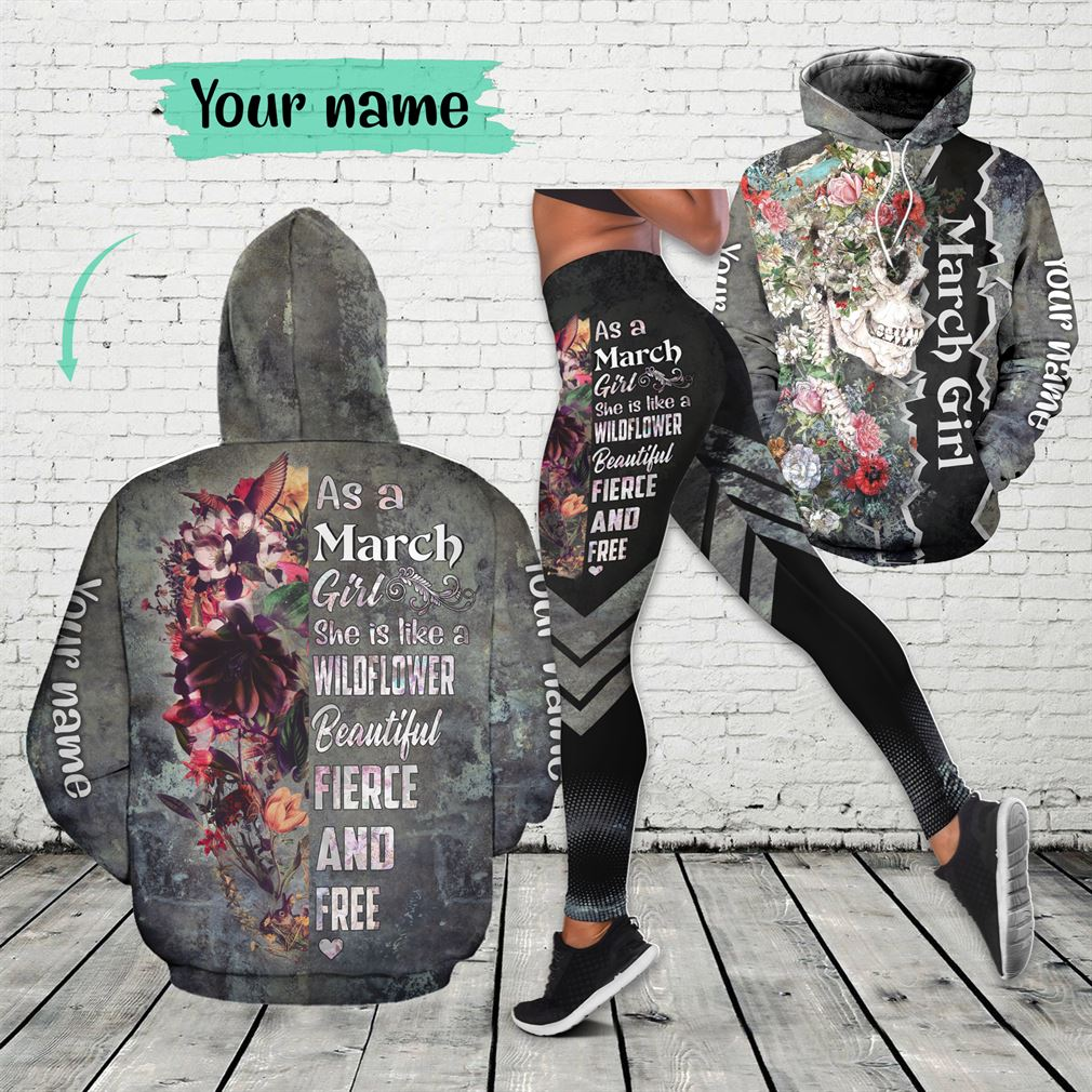 March Girl Combo 3d Clothes Hoodie Legging Set V21