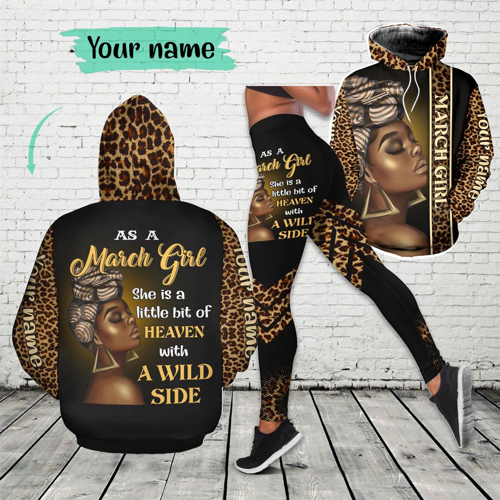 March Girl Combo 3d Clothes Hoodie Legging Set V23