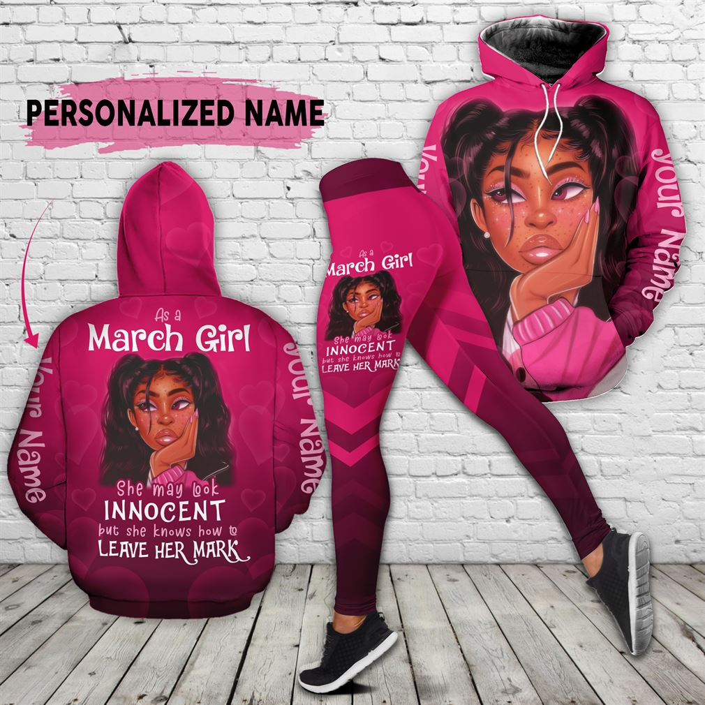 March Girl Combo 3d Clothes Hoodie Legging Set V24
