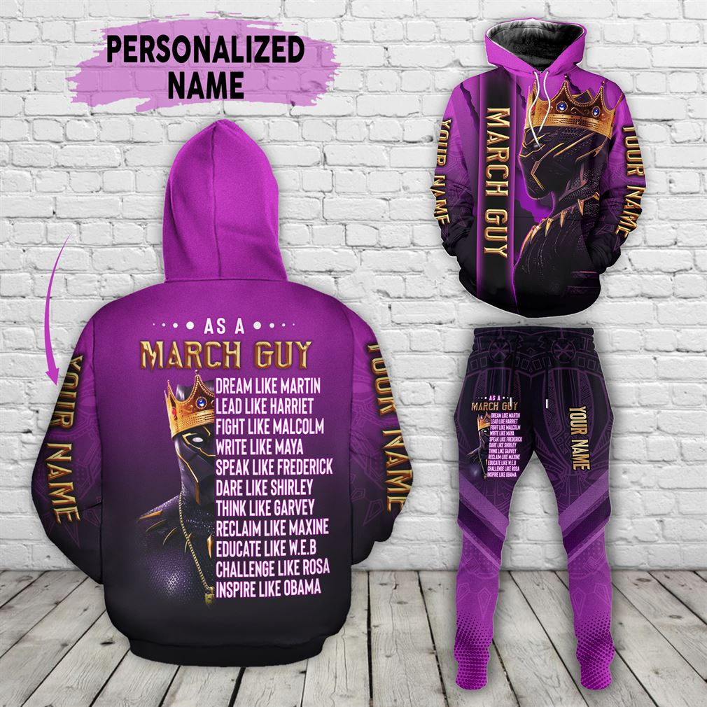 Personalized Name March Guy Combo 3d Clothes Hoodie Joggers Set V02