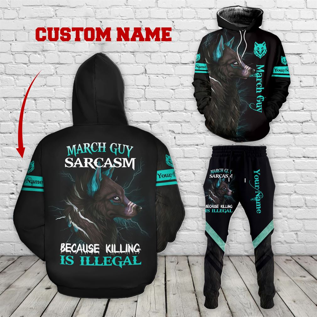 Personalized Name March Guy Combo 3d Clothes Hoodie Joggers Set V03