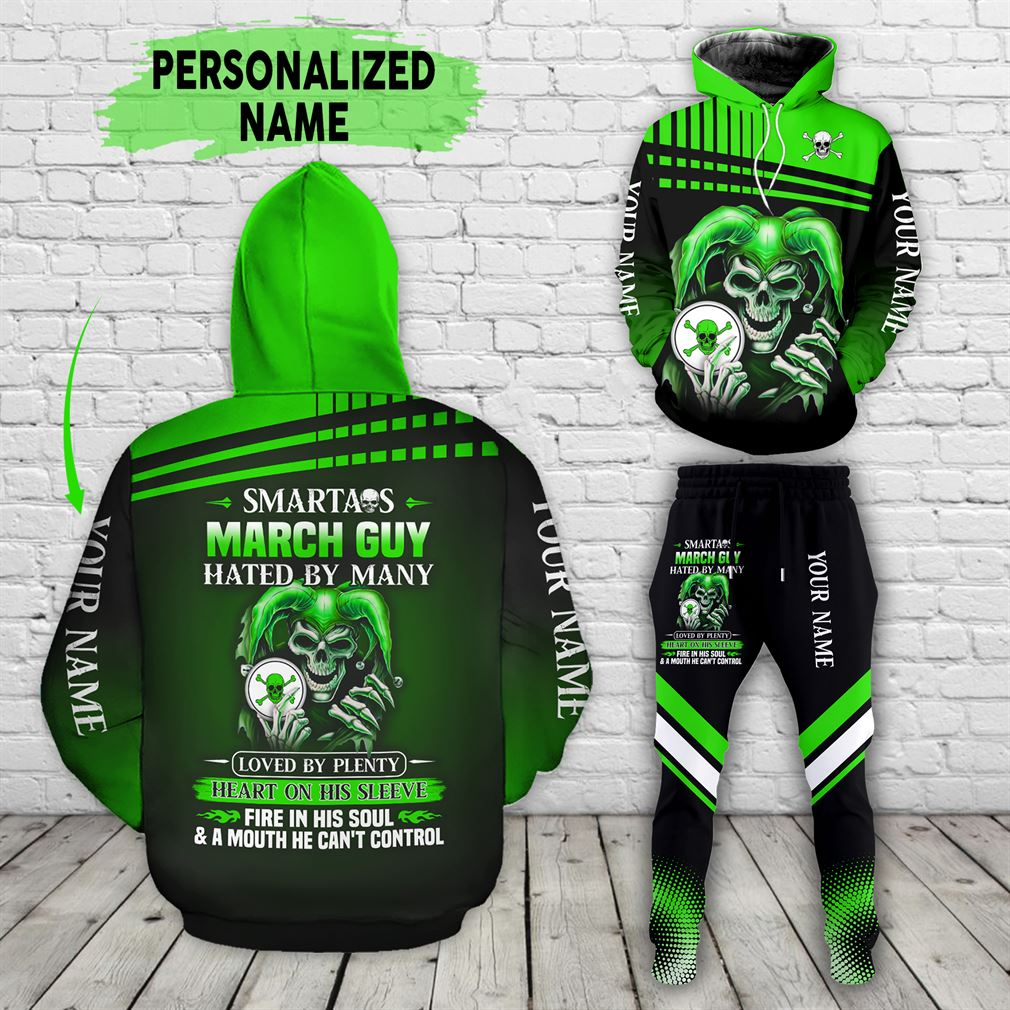 Personalized Name March Guy Combo 3d Clothes Hoodie Joggers Set V12