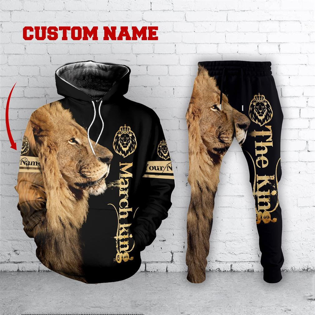 Personalized Name March Guy Combo 3d Clothes Hoodie Joggers Set V14