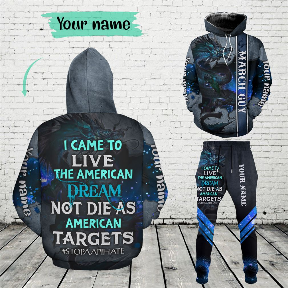 Personalized Name March Guy Combo 3d Clothes Hoodie Joggers Set V16