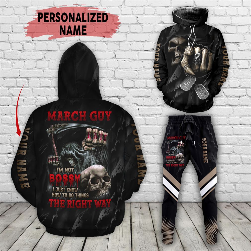 Personalized Name March Guy Combo 3d Clothes Hoodie Joggers Set V18