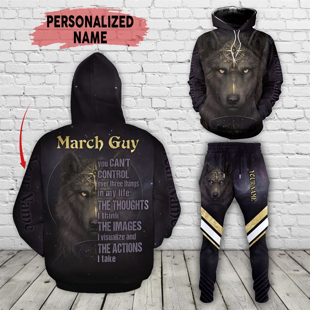 Personalized Name March Guy Combo 3d Clothes Hoodie Joggers Set V19