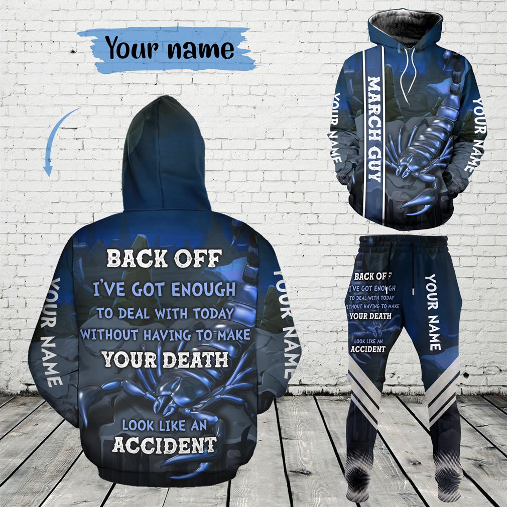 Personalized Name March Guy Combo 3d Clothes Hoodie Joggers Set V20
